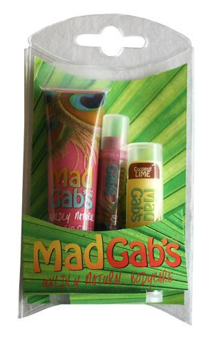MAD GAB'S: Holiday Moose Lip Balm Stick Trio 3 pc