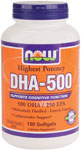 Now: Dha 500mg 180 Softgels