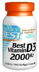 Doctors Best: Best Vitamin D3 2000IU 180 SG