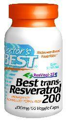 Doctors Best: Best trans-Resveratrol 200 featuring ResVinol-25 (200 mg) 60VC