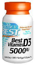 Doctors Best: Best Vitamin D3 (5000IU) 180 SG
