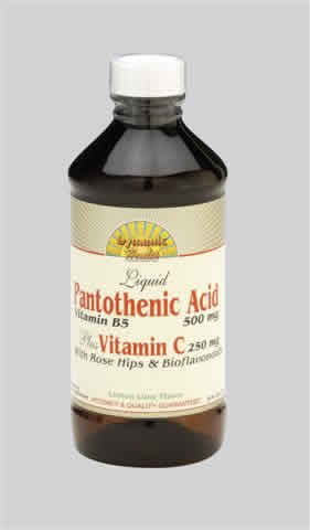 DYNAMIC HEALTH LABORATORIES INC: Pantothenic Acid Plus Vit C with Rosehips and Bioflavonoids 8 oz