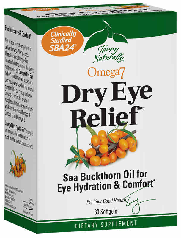 Europharma / Terry Naturally: Omega-7 Eye Relief 60 Softgels