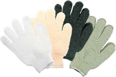 EARTH THERAPEUTICS: Exfoliating Hydro Gloves-White