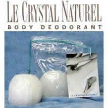 CRYSTAL BODY DEODORANT (French Transit): Le Crystal Naturel Deodorant Crystal Rock 6-9 oz