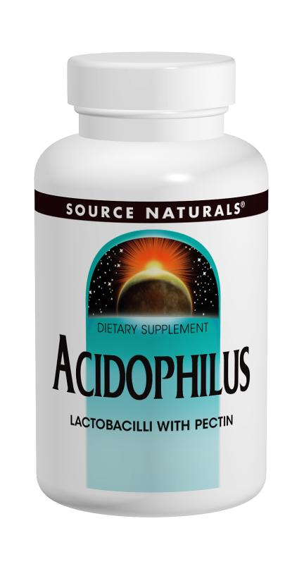 SOURCE NATURALS: Acidophilus With Pectin 100 tabs