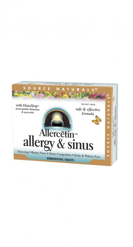SOURCE NATURALS: Allercetin allergy & sinus 48 tabs