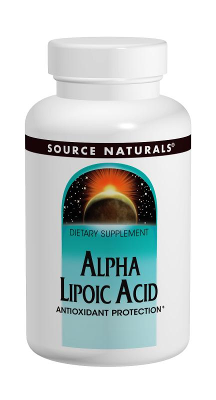 SOURCE NATURALS: Alpha Lipoic Acid 600mg TR 60 Tabs