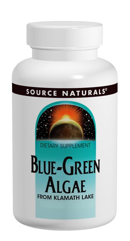 SOURCE NATURALS: Blue-Green Algae 500 mg 100 tabs