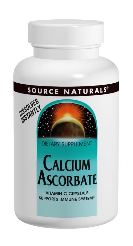 SOURCE NATURALS: Calcium Ascorbate Crystals 8 oz