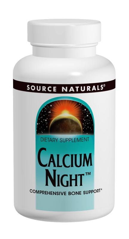 SOURCE NATURALS: Calcium Night 120 tabs