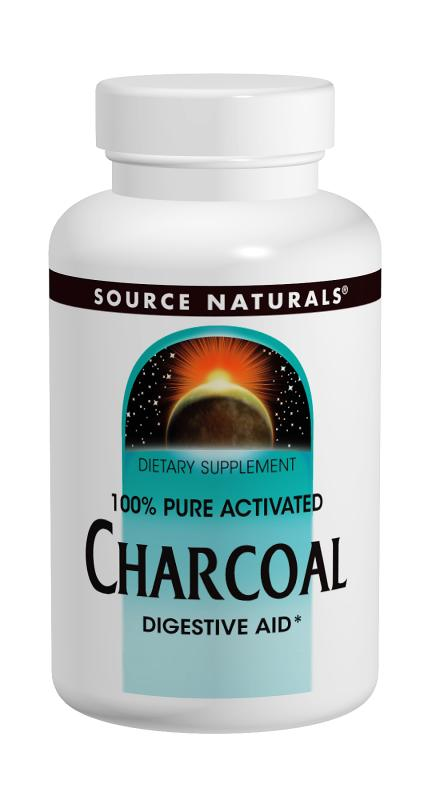 SOURCE NATURALS: Charcoal 260 mg 100 caps