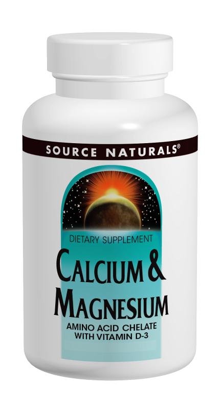SOURCE NATURALS: Calcium  Magnesium Chelate 200 mg  100 mg 100 tabs