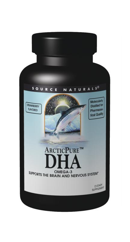 SOURCE NATURALS: ArcticPure DHA 250 mg (strawberry) 60 sg