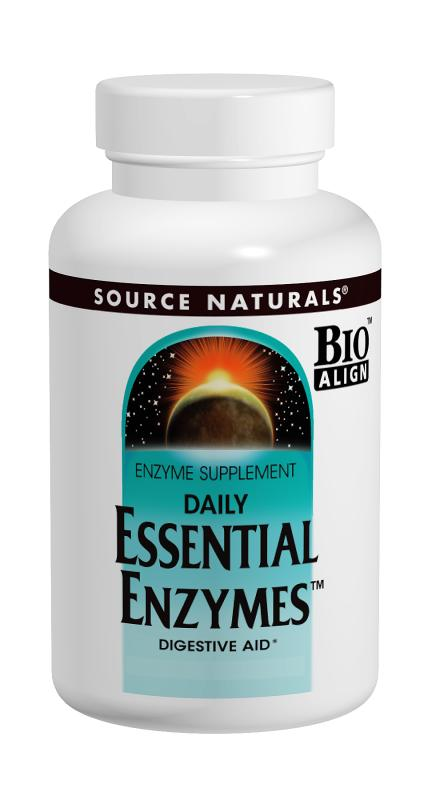 SOURCE NATURALS: Essential Enzymes 500mg 30c Blister Pack 3 cap