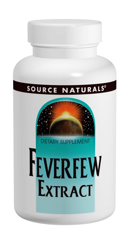 SOURCE NATURALS: Feverfew Extract 50 tabs