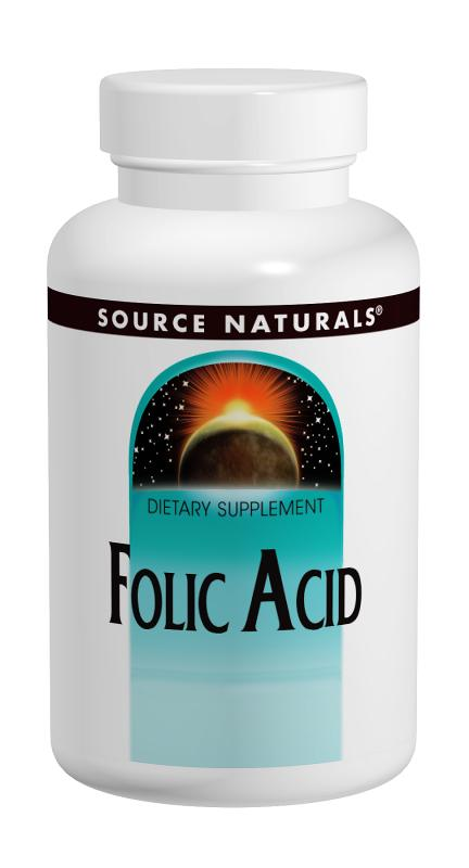 SOURCE NATURALS: Folic Acid 800 mcg 200 tabs