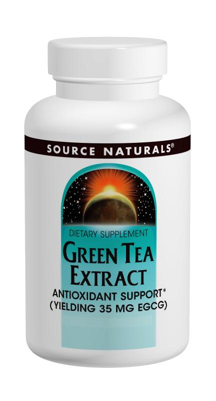 SOURCE NATURALS: Green Tea Extract 100 mg 60 tabs