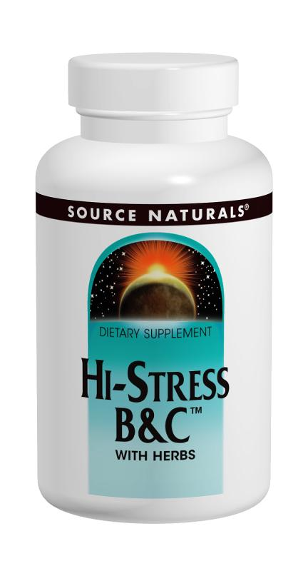 SOURCE NATURALS: Hi-Stress B&C With  herbs 60 tabs