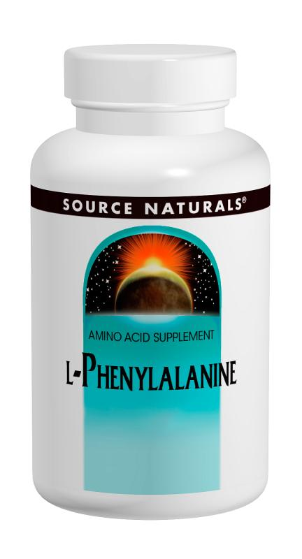 SOURCE NATURALS: L-Phenylalanine 500 mg 100 tabs
