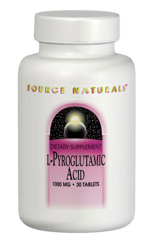 SOURCE NATURALS: L-Pyroglutamic Acid 1000 mg 30 tabs