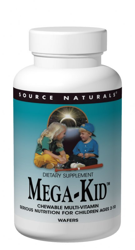 SOURCE NATURALS: MegaKid Children's Chewable Wafer 60 W