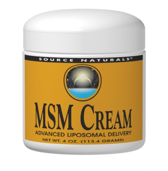 SOURCE NATURALS: MSM Joint Response Cream 4 oz