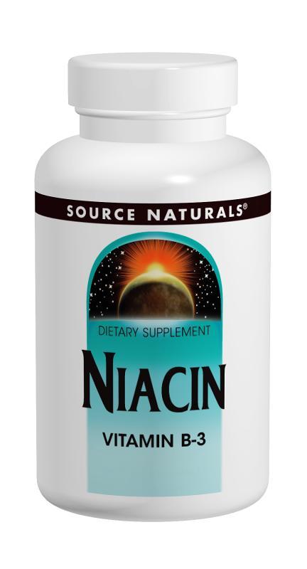 SOURCE NATURALS: Niacin 100 mg 250 tabs
