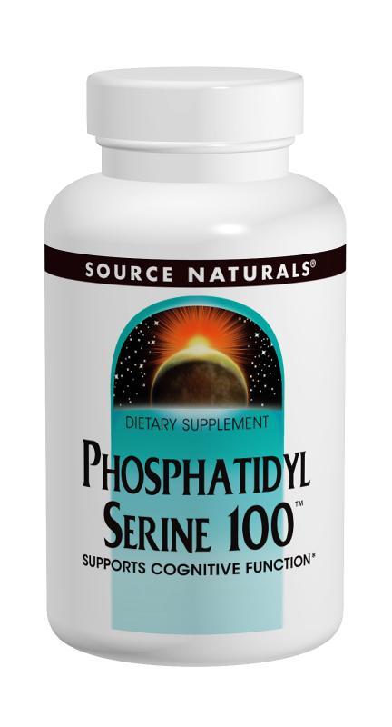 SOURCE NATURALS: Phosphatidyl Serine 100 60 vegetarian capsule