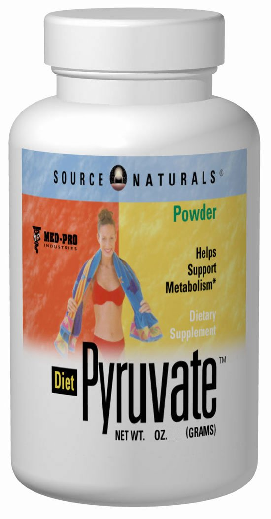 SOURCE NATURALS: Diet Pyruvate Powder 3 oz