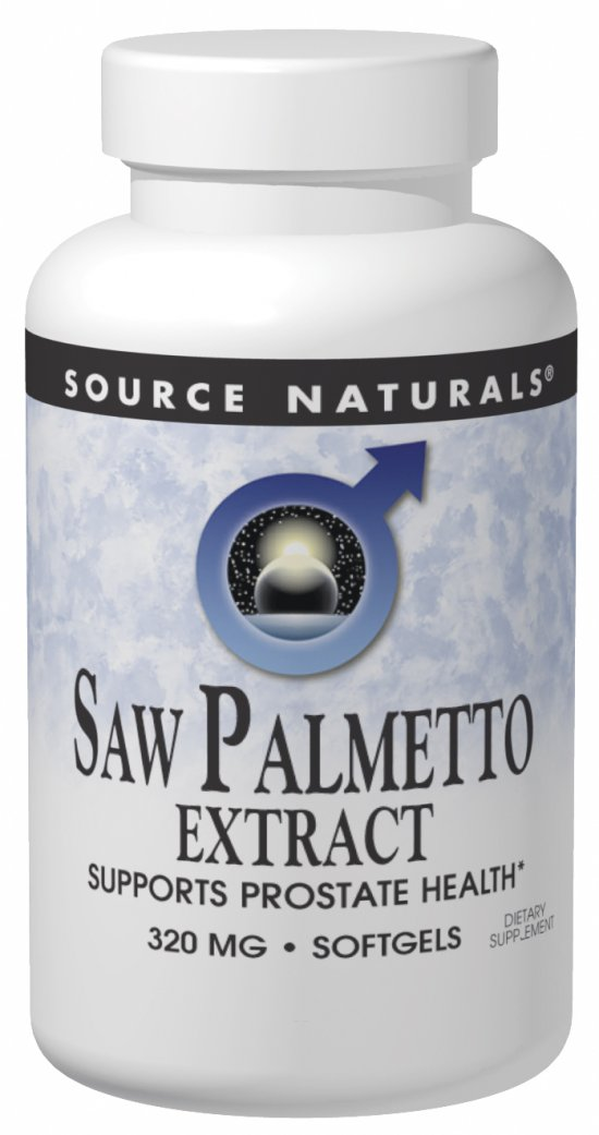 SOURCE NATURALS: Saw Palmetto Extract 320 mg 60 SG