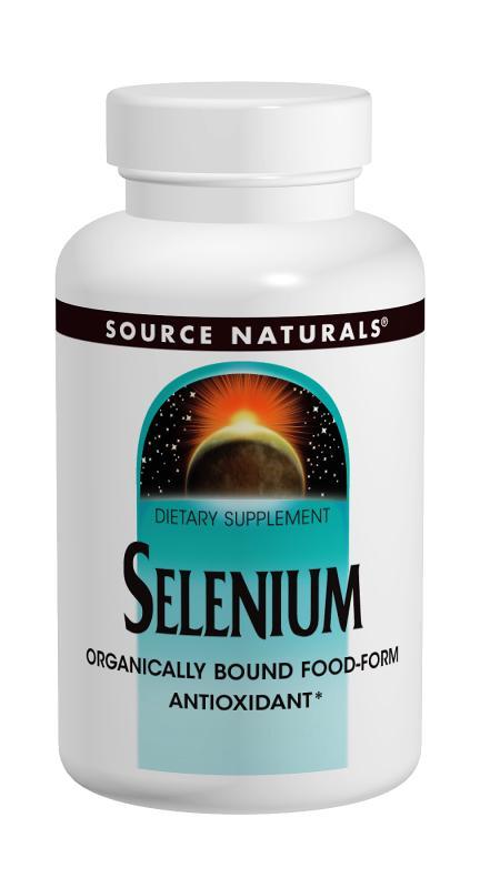 SOURCE NATURALS: Selenium 100 mcg 100 tabs