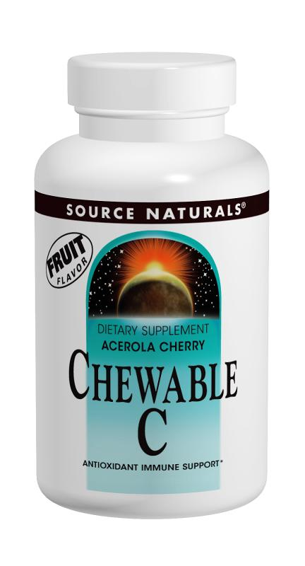 SOURCE NATURALS: Acerola Chewable C 120 mg 100 tabs