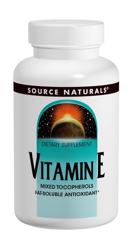 SOURCE NATURALS: Vitamin E Dry 100% Natural 400 IU 50 tabs