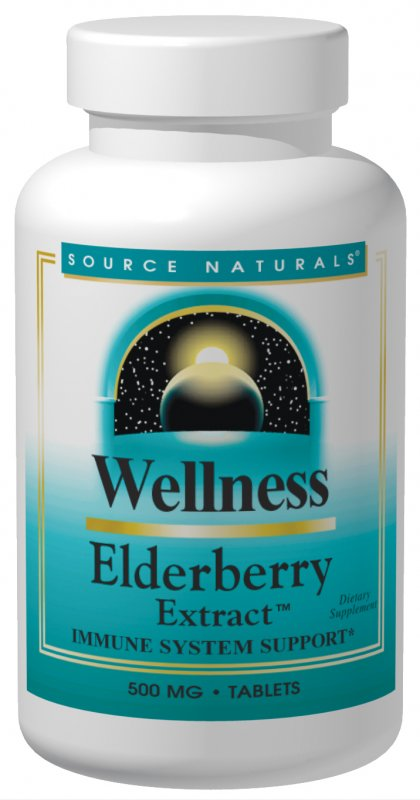 SOURCE NATURALS: Wellness Elderberry Extract 500 mg 30 tabs