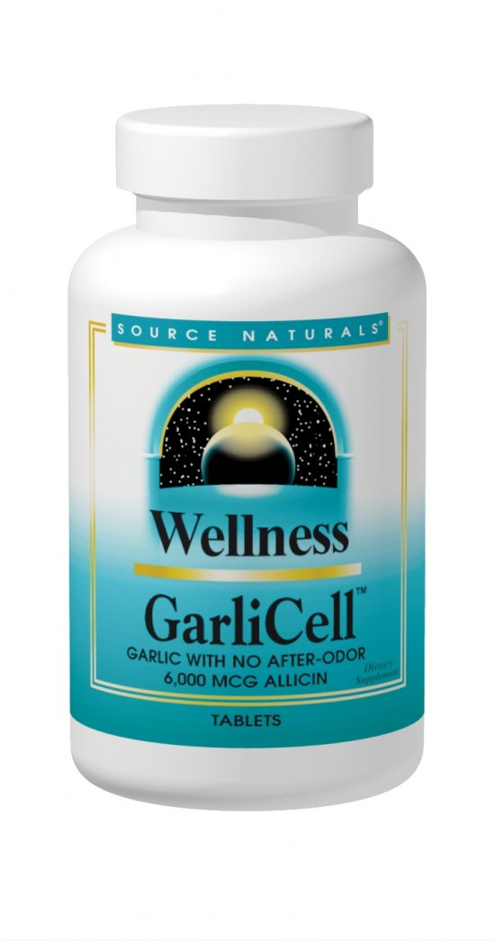 SOURCE NATURALS: Wellness GarliCell 180 tabs