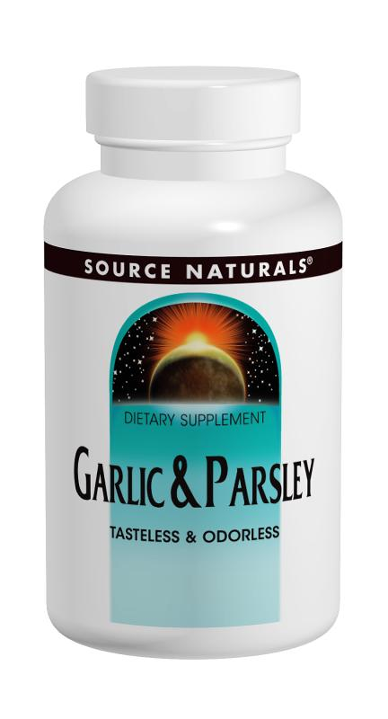 SOURCE NATURALS: Garlic & Parsley Oil 500  100 mg softgels 250 SG