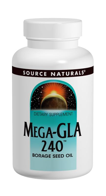 SOURCE NATURALS: Mega-GLA 240 Borage Seed Oil 120 SG