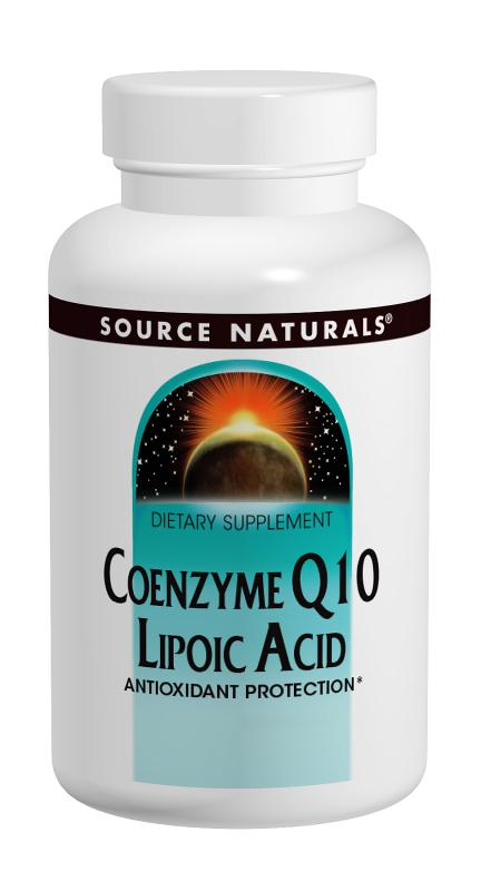 SOURCE NATURALS: Coenzyme Q10  Lipoic Acid 30 mg  30 mg 30 caps