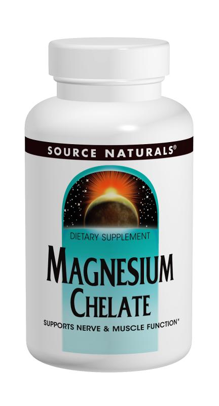 SOURCE NATURALS: Magnesium Chelate 100 mg 100 tabs