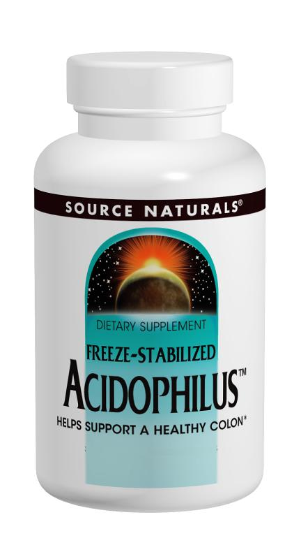 SOURCE NATURALS: Freeze-Stabilized Acidophilus 300 mg 120 caps