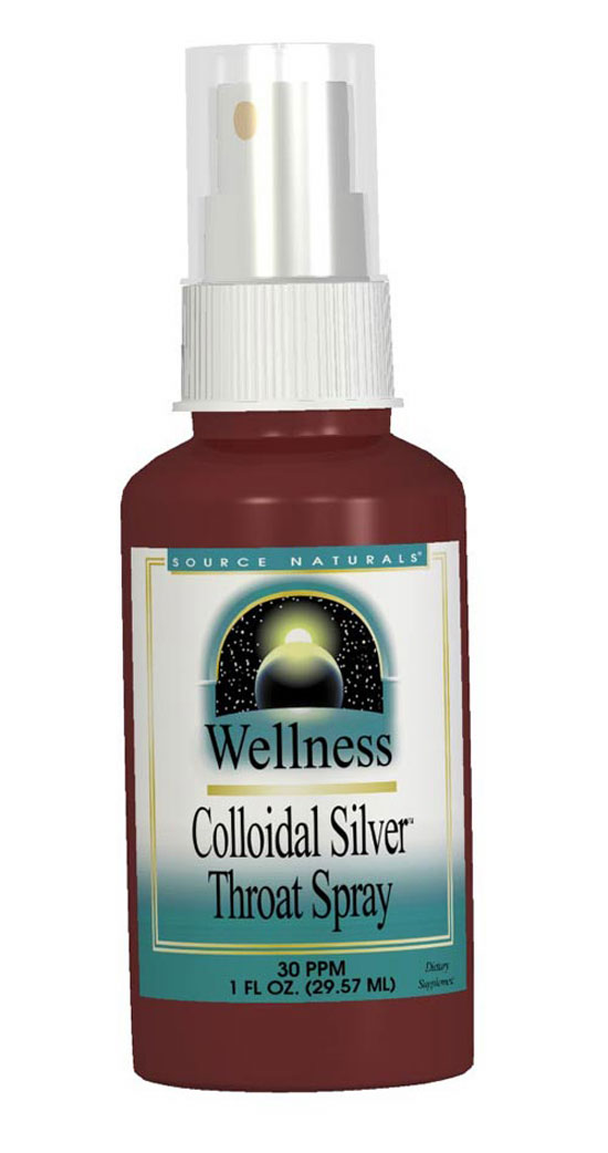 Wellness Colloidal Silver Throat Spray 30 ppm, 1 fl oz