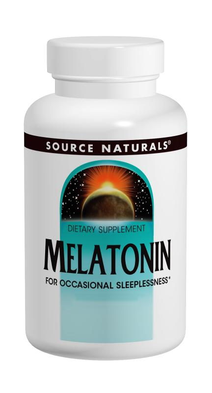 Source naturals: Melatonin 5 mg  sublingual peppermint 100 tabs