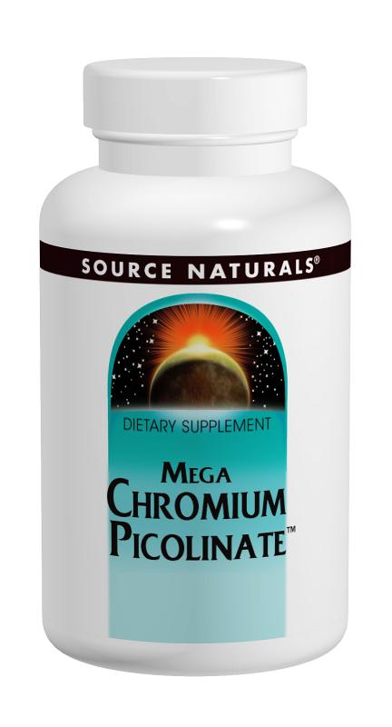 SOURCE NATURALS: Mega Chromium Picolinate  300 mcg 120 tabs