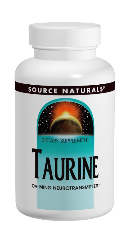 SOURCE NATURALS: Taurine 1000 mg 60 Capsules