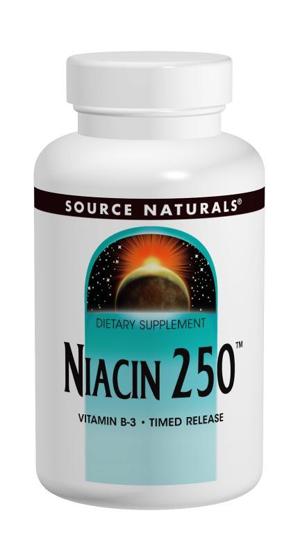 SOURCE NATURALS: Niacin 250 250 tabs