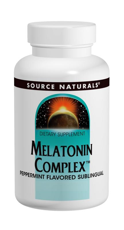SOURCE NATURALS: Melatonin Complex Sublingual Orange 100 tabs