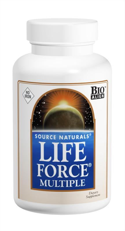 SOURCE NATURALS: Life Force No Iron Capsules 120 caps