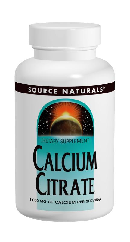 SOURCE NATURALS: Calcium Citrate 1000 mg 180 Tabs
