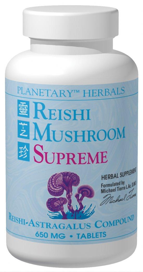 PLANETARY HERBALS: Reishi Mushroom Supreme 650 mg 200 tabs